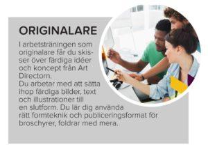 Faktaruta om yrket originalare (texten finns i den löpande texten på sidan)
