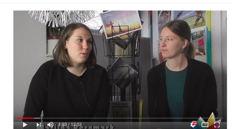 Skärmdump från youtube som visar en bildram med två praktikanter som pratar
