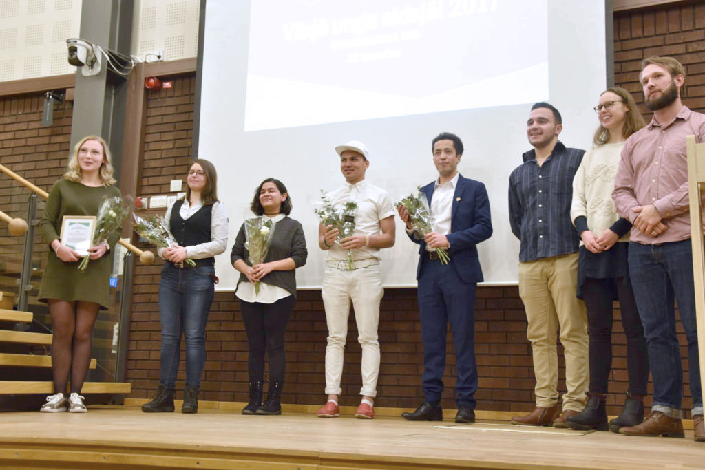 Foto från prisutdelning årets eldsjäl