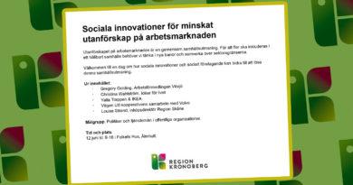 Inbjudan konferens Region Kronoberg