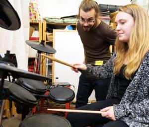 Vi testar digitala trummor