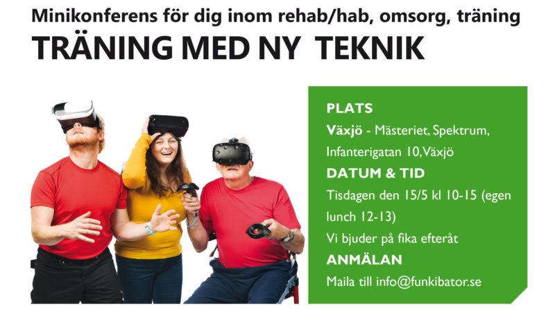 Minikonferens för rehab/habilitering - träna med ny teknik!