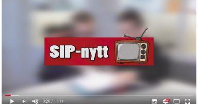 Skärmbild av SIPnytt vecka 10 2018 på Youtube