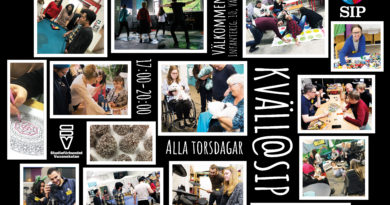 Informationsblad med foton från våra aktiviteter