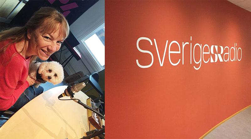 Pia Hammargren i SRs studio