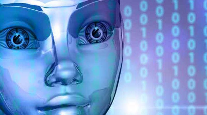 Bild på en robots ansikte