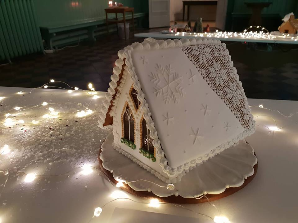 The winning house of the gingerbread house competition at Alvesta Utställningshall