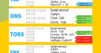 Nya aktiviteter och schema