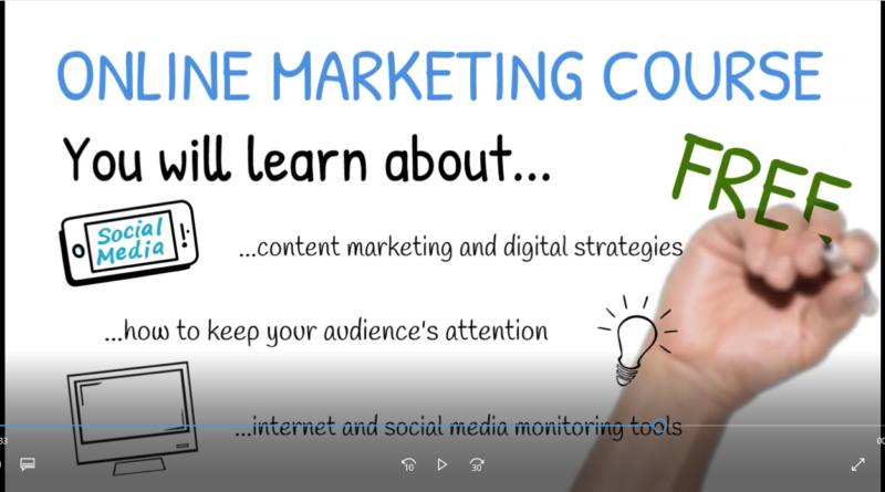 Social media and other online tools in marketing – Free online course