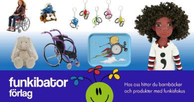 Bildkollage på dockor och leksaker med funkisfokus